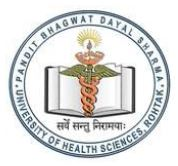 PANDIT BHAGWAT DAYAL SHARMA UNIVERSITY OF HEALTH SCIENCES ROHTAK
